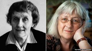 Astrid Lindgren in 1975 and Barbro Lindgren in 2012