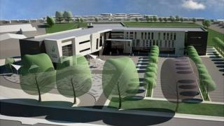 Artist impression of new college building