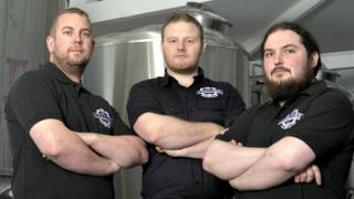 Brewmeister - consultant head brewer David Beach, managing director Lewis Shand, and associate head brewer Tony Spencer