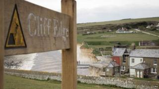 View of cottage at Birling Gap