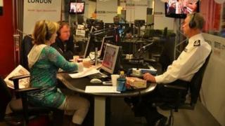 Bernard Hogan Howe in the BBC London 94.9 studio