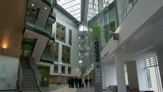 Atrium of the new building