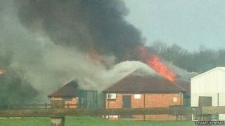 Banbury Cricket Club fire