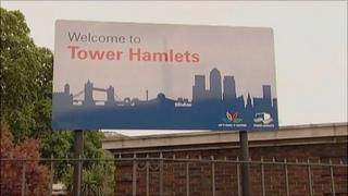 Welcome to Tower Hamlets sign
