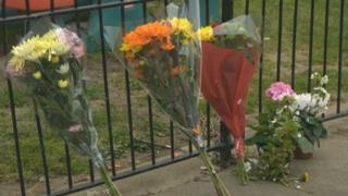 Tributes left in Oswald Mead