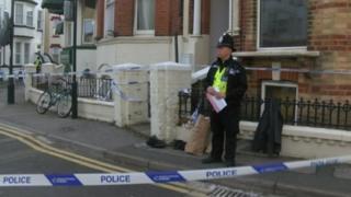 Police cordon in St Michael's Road