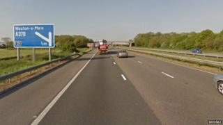 M5 junction for Weston-super-Mare