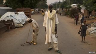 Muslim in PK12 in Bangui (19 March 2014)