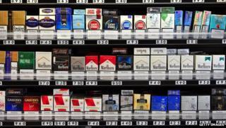 Cigarettes in a store