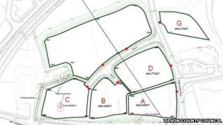 Proposed lay out for the business park