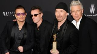 Bono, Larry Mullen Jr, The Edge and Adam Clayton of U2
