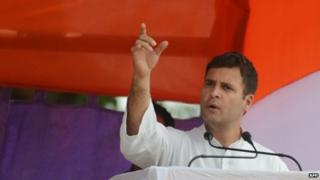 Rahul Gandhi is leading the ruling Congress Party's election campaign