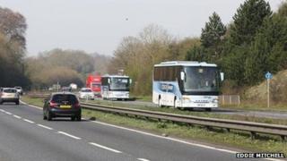 The A27 near Lewes
