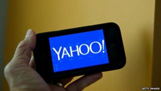 Yahoo on phone
