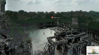 Google Street View image of Angkor temple