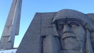 War memorial statue 40 km from Tchaikovskovo