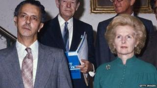 Keith Joseph and Margaret Thatcher in 1976