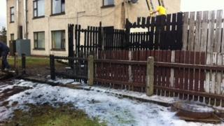An oil tank was set on fire in the Carnhill Estate