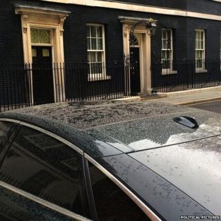 Pollution dust on David Cameron's car