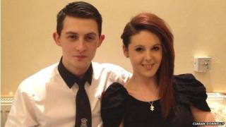 Garry Faulds and his fiancee Laura Colquhoun