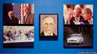 Painting of Russian President Vladimir Putin by George W Bush