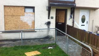 A house that was damaged in Knockdhu Park in Larne
