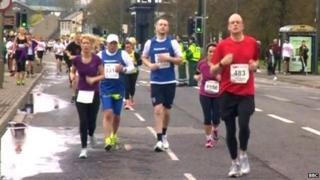 Runners at the cancelled Sheffield Half Marathon