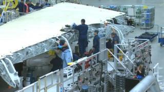 Peiriannwyr ffatri Airbus