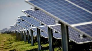UK solar farm (Image: PA)