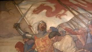 Part of an Owain Glyndwr mural