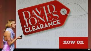 David Jones sale promotion