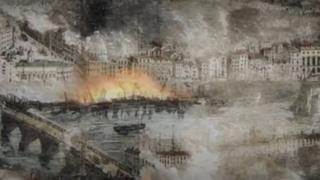 Newcastle and Gateshead depiction of fire
