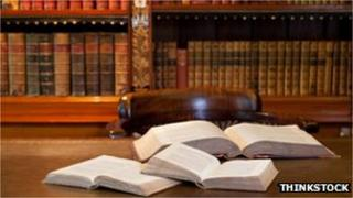 Legal books in library