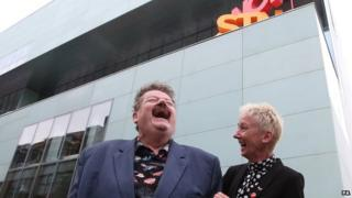Robbie Coltrane and Muriel Gray at GSA