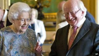 The Queen with Michael D Higgins