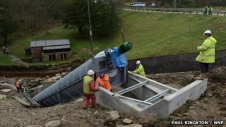 Archimedean screw installed at Cragside