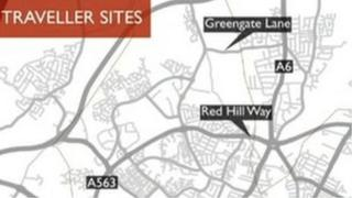 Map of potential traveller sites