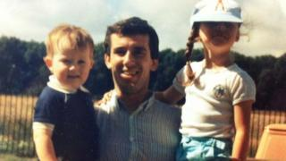 Gary Harrison with his children Paul and Claire