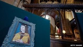 Richard III in Leicester Cathedral