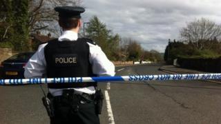 Police officer at scene of Talbot Park bomb alert