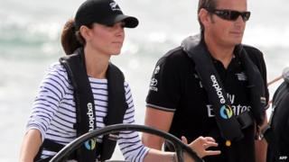 The Duchess of Cambridge racing yachts in New Zealand