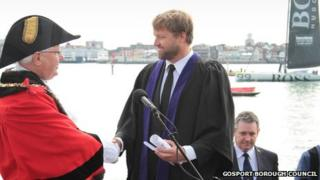 Alex Thomson Freedom of the Borough Ceremony