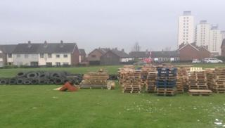 Bonfire material in Rathcoole