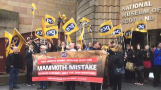 Museum strike Pic: Steven Godden