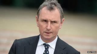 Nigel Evans outside Preston Crown Court after his acquittal on 10 April 2014