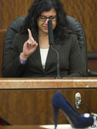 Ana Trujillo testifies during the punishment phase of her trial in Houston 10 April 2014