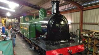 The standard gauge locomotive known as Taff 28