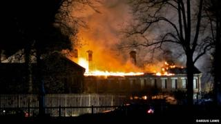 Stable block on fire at old Garrison in Colchester