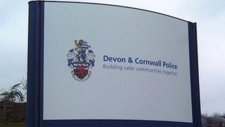 Devon and Cornwall Police sign