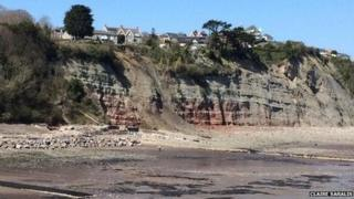 Landslide at Penarth
